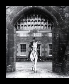 Policeman on a Horse under the Entrance of the Littledean Jail